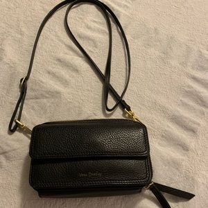 Vera Bradley Leather Wallet Crossbody Black Purse